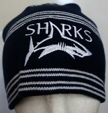 SALE SHARKS RUGBY NAVY STRIPED BEANIE BY CANTERBURY ONE SIZE BRAND NEW WITH TAGS
