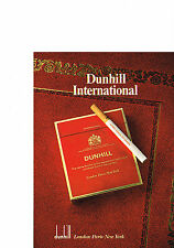 PUBLICITE  ADVERTISING  1980   DUNHILL INTERNATIONAL  cigarettes