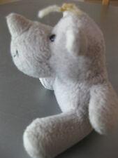 Nilpferd Hippo klein sitzend 8 cm grau Kuscheltier Stofftier Plüsch, süss