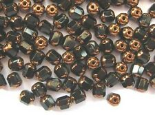 20 BLACK faceted lantern Czech glass beads - 6mm