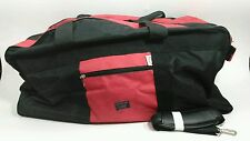 Vintage RARE Polo Raplh Lauren Extra LARGE BLACK  WITH RED DUFFEL SPORT BAG