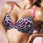 Hot Sexy Women Cozy Smooth Thick Padded Plunge Soft Push up Bra 32-40 B C Cup