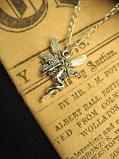Silver Fairy Necklace Wicca Fantasy Magic Elf Wings Fae Pendant Charm Nouveau
