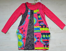 DESIGUAL GIRLS KLEID VEST DRESS BISSAU 67V32C1 2 IN 1 Gr.122/128 / 7/ 8 Y