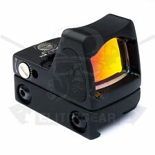 Black Tactical Red Dot Illuminated Sight RMR Style Airsoft Reflex Scope fit ACOG