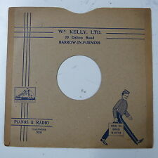 "78rpm 10"" card gramophone record sleeve / cover Wm KELLY , BARROW"