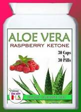 30 ALOE VERA JUICE TABLETS PLUS RASPBERRY KETONE CAPSULES*SLIMMING DIET PILLS