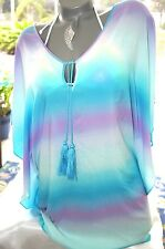 XS/S~VICTORIA'S SECRET SWIM BEACH COVER UP OVERSIZED OMBRE RESORT WEAR ~NWT
