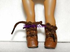 Brown Lace Up Boots  Doll Clothes Made For 6 inch Mini American Girl Dolls