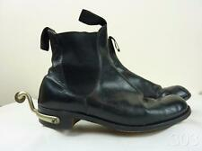 WWII British Military Army Cavalry Black Ankle Boots with Spurs, Size UK8