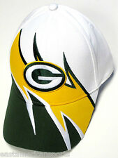 Green Bay Packers NFL Team Apparel Sideline Hat Cap White Green Yellow Wave