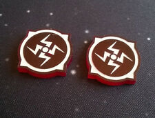 X-Wing Miniatures compatible, acrylic ion tokens x 2
