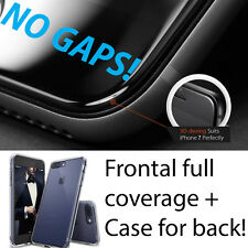 No Gaps Real Screen Protector Tempered Glass Film For iPhone 7 Plus + Case