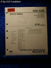 Sony Service Manual HMD A200 Color Computer Display (#3314)