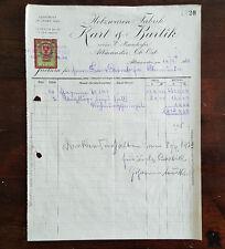 Alte Rechnung 1923 aus Altmünster, Holzwaren-Fabrik   (C12)