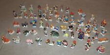 Rare!! 69 DISNEY Porcelain MINI FIGURES Lot /Donald Duck, Toy Story, Jungle Book