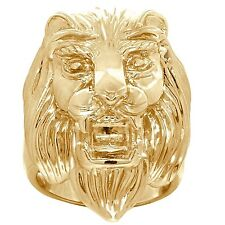 Lion Tiger Head 9ct 9K 375 Solid Gold Ring 19.8 Grams Heavy Huge