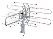 HDTV Outdoor Amplified Antenna HD TV 32dB Rotor Remote 360° UHF/VHF/FM 150M