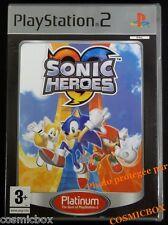 SONIC HEROES platinum jeu video pour console PS2 PlayStation 2 PAL complet testé