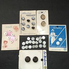 Vtg Buttons Lot Props Lucky Day Costumakers Schwanda La Moderne Pearl On Cards