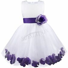 Girls Flower Dress Formal Kids Bridesmaid Princess Wedding Party Dress Age 5
