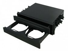 CT24UV20 SINGLE DIN POCKET TRAY WITH DRINKS HOLDER BLACK FASCIA FACIA ADAPTOR