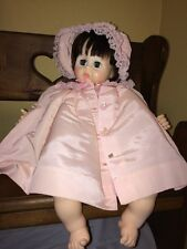 Vintage 1977 Madame Alexander Pussy Cat Baby Doll Ma270 Pink Dress 20""