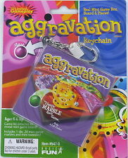 AGGRAVATION game Keychain Marbles Basic Fun Keyring Race Board Die Travel Doll