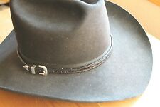 Western Leather Tooled Hatband Hat Band Belt Silver Cowboy Cowgirl Rodeo Horse