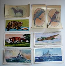 8X VINTAGE CIGARETTE CARDS TRANSFERS PLAYER WILLS HORNIMAN'S TEA - ANIMALS SHIPS