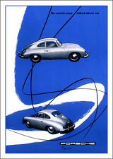 Porsche 356 Classic Porsche marketing print-- A3