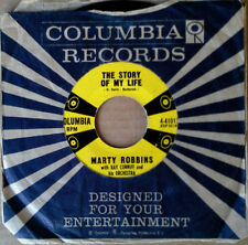 MARTY ROBBINS - STORY OF MY LIFE b/w ONCE-A-WEEK DATE - COLUMBIA 45 - YELLOW LBL