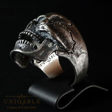 Biker SKULL 1 Ring SIZE 10 Sterling Silver 925 Handcrafted Freemason Masonic Men