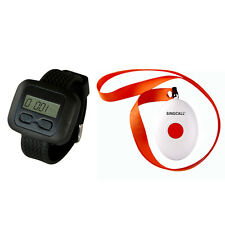 SINGCALL Wireless Nursing Paging Systems,1 Watch Receiver with a Button Pager