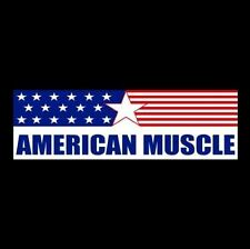 """AMERICAN MUSCLE"" hot rod BUMPER STICKER Ford Chevy Dodge RACING DECAL rat car"