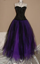 black purple tutu skirt 18 gothic lagenlook prom fairy witch gypsy quirky SML
