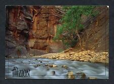 Dated 1992, View of the Virgin River, Zion National Park, Utah.