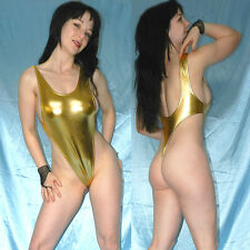 Alta piernas lackbody Shiny metalizado brillante * s oro stringbody * quisquilloso