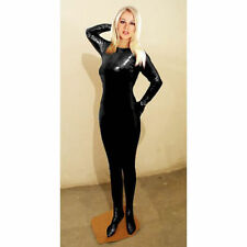 Black Super Springy Body Shiny Spandex-latex Catsuit UK BASED FAST POST