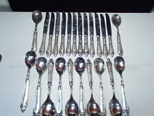 64 Pc E P ZINC~~800 Plated~~Italy Silver Plt'd Flatware Service for 12~LBL ITALY