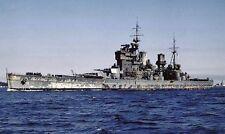 ROYAL NAVY BATTLESHIP HMS KING GEORGE V - ENTERING APRA HARBOUR, GUAM IN 1945
