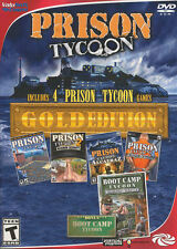 Prison Tycoon GOLD EDITION - 4x PC Games - Original + 2 + Alcatraz + Supermax +