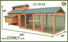 CC78R2 Backyard Chicken Coop Hen House Rabbit Hutch  ( Ship LTL Freight )