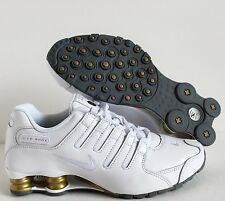 NIKE WOMEN iD SHOX NZ WHITE-GOLD-SILVER SZ 7.5W  [411684-981]