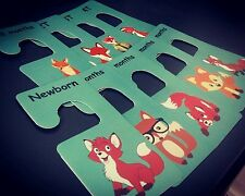 Baby clothes closet dividers. Foxes. Newborn - 4T. CHD000005