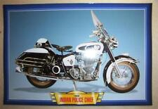 INDIAN POLICE CHIEF CLASSIC MOTORCYCLE BIKE 1950'S  PICTURE 1959 ROYAL ENFIELD