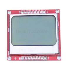 84x48 Pixel LCD Módulo Blanco Backlight Adapter LED PCB para Nokia 5110 Arduino