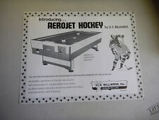 AEROJET HOCKEY  US BILLARDS   arcade game flyer