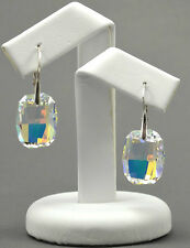 *GRAPHIC* 925 Silver Earrings made with Swarovski Crystals - Crystal AB- 19mm