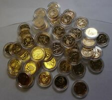 24 K GOLD PLATED STATE QUARTER-ONE QUARTER-25 CENT UNCIRCULATED +PLASTIC CAPSULE